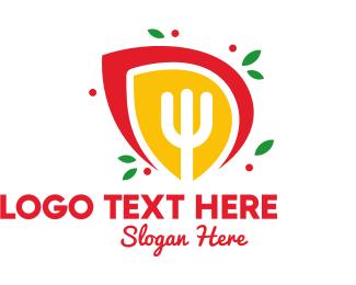 Berries - Fork Emblem logo design