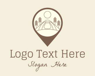 Camping Site - Location Camping Site  logo design