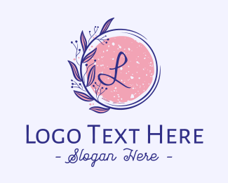 Skin Care - Fancy Floral Letter logo design