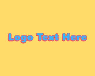 Kids - Fun Kids Text logo design
