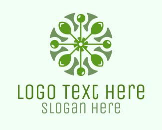 Circular Leaf Pattern Logo