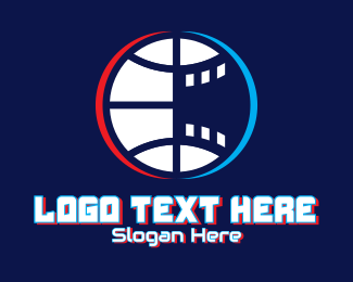 Esports - Glitchy Basketball Esports logo design