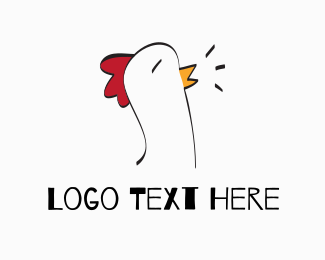 Rooster Chicken Farm Logo