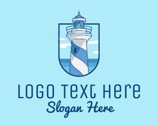 Coast Guard - Coastal Lighthouse Tower logo design