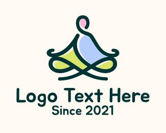 Zen - Monk  Meditation Therapy logo design