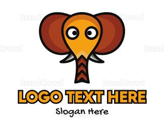 Baby Boutique - Cute Elephant Head logo design