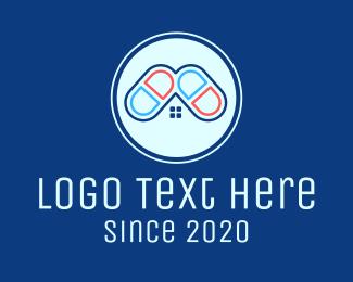 House - Medical Pharmacy Home logo design