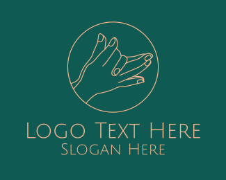 Gesture - Minimalist Hand Gesture  logo design