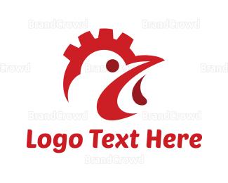 Hen - Industrial Chicken logo design