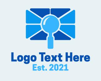 Detective - Blue Search Camera logo design