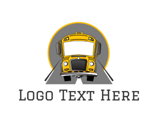 Elementary School - Yellow School Bus logo design