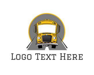 Coach - School Bus logo design