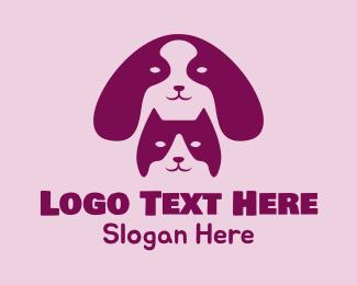 Kitty Cat - Dog Cat Veterinarian  logo design