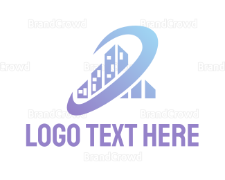 Business Center - Orbit City logo design