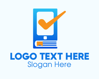 Mobile Tablet - Phone Book Check logo design