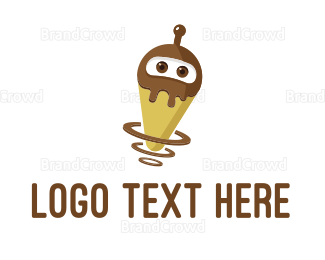 Agency - Robot Ice Cream logo design