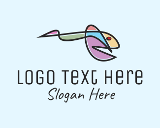 Abstract Colorful Fish  Logo