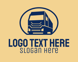 Trucking Company - Big Cargo Truck logo design
