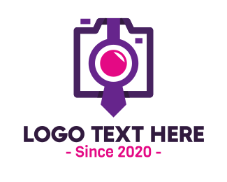 Photographer - Violet Tie Photographer logo design