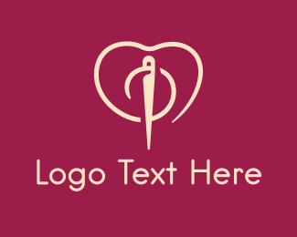 Embroidering - Fashion Needle Love logo design