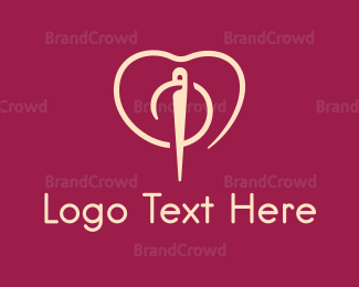Ampersand - Fashion Needle Love logo design