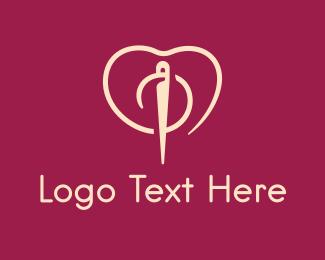 Fashion Designer - Fashion Needle Love logo design