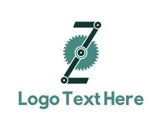 Gears - Engine Letter Z logo design