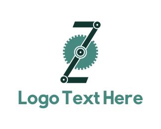 Letter - Engine Letter Z logo design