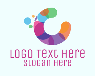 Kids Fashion - Colorful Letter C logo design
