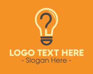 Venture - Light Bulb Question Mark logo design