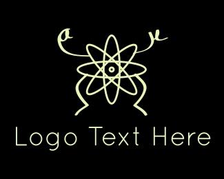 Negative - Atom Man logo design