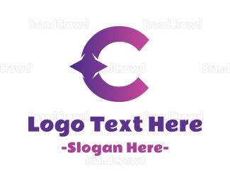 Beautify - Gradient Star C logo design