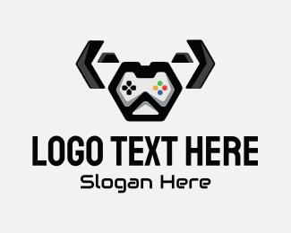 Twitch - Cute Dog Controller logo design