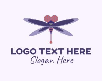 Dragonfly - Flying Dragonfly  logo design