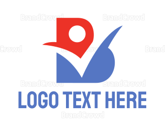 Approval - Red Blue Check B logo design