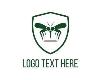 Fumigation - Mosquito Shield logo design