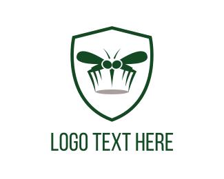 Mosquito - Mosquito Shield logo design
