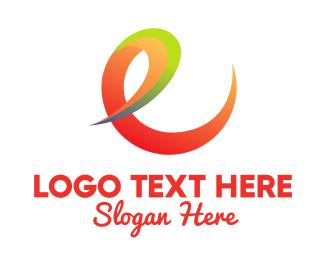 Swish - Professional Gradient Letter E  logo design