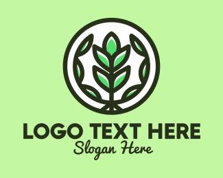 Herb Garden - Organic Farming Emblem logo design