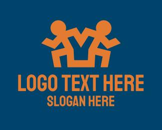 Runner - Runner Pose Letter Y logo design