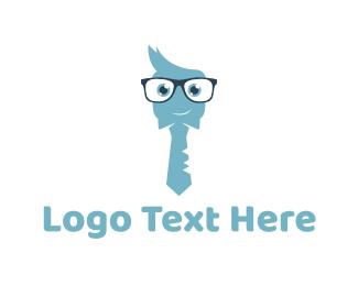 Small Business - Cute Nerd  logo design