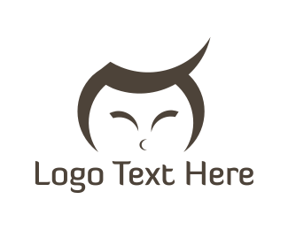 Guy - Asian Boy logo design