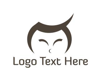 Calligraphy - Asian Boy logo design