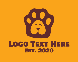 Doggy - Dog Pawprint  logo design