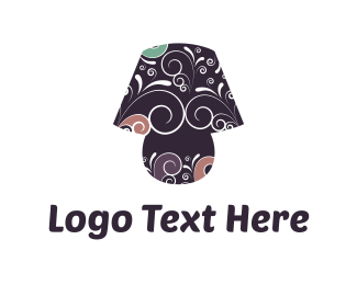 Lightening - Lamp & Flowers logo design