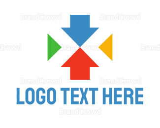 Center - Colorful Arrows logo design
