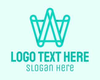 Construction Firm - Geometric Green Letter W  logo design