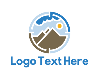 Telescope - Mountain Target logo design