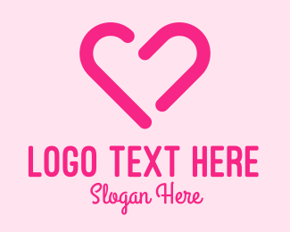 Romantic - Pink Romantic Heart logo design
