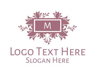 Flower Arrangement - Floral Arrangement Lettermark  logo design